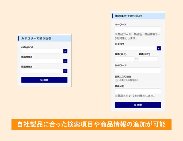 様々な商品検索方法(現場の名称登録)が可能